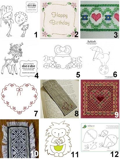 REDWORK EMBROIDERY FREE PATTERNS