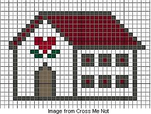 free house cross stitch charts