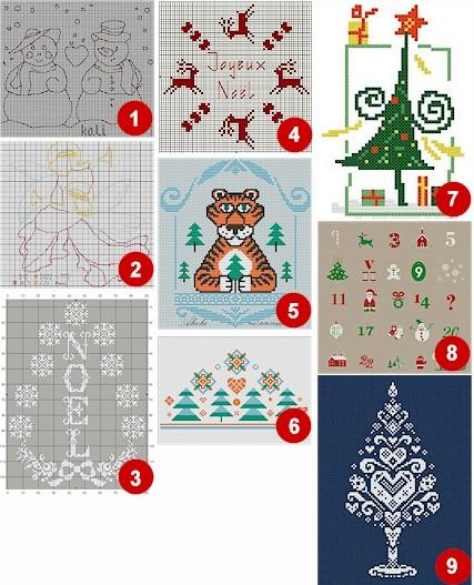 christmas cross stitch freebie
