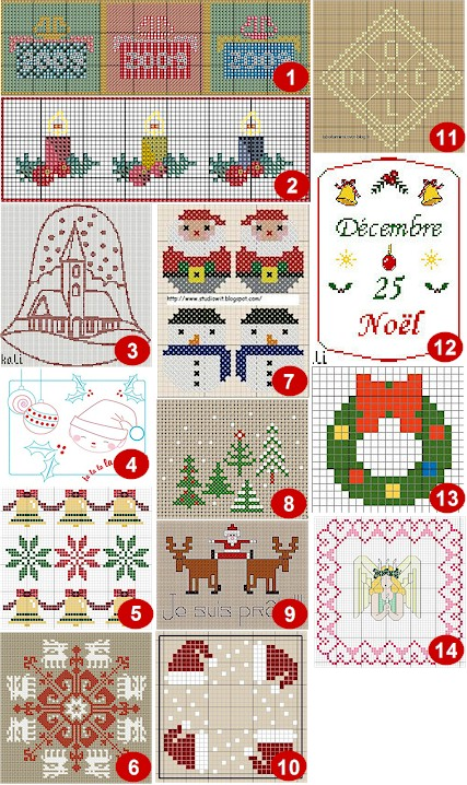 cross stitch christmas ornament patterns free