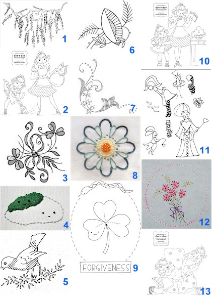 STAMPED HAND EMBROIDERY PATTERNS