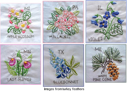 Embroidery Flower Pattern Vintage Embroidery Origami