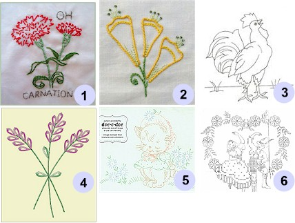 Free Hand Embroidery Patterns - Victorian Embroidery and Crafts