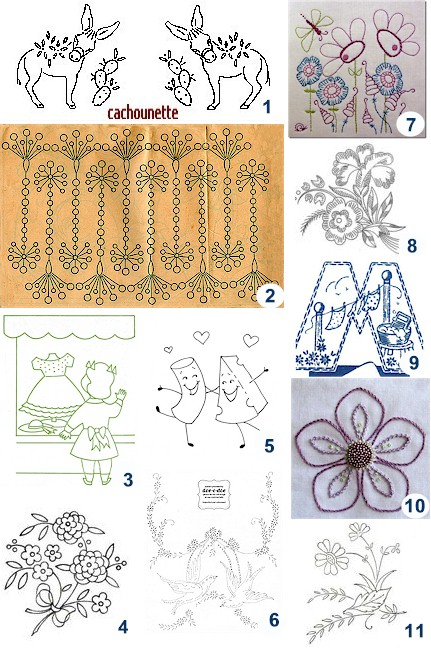 Hand Embroidery Transfer Patterns items in Aunt Martha Transfers
