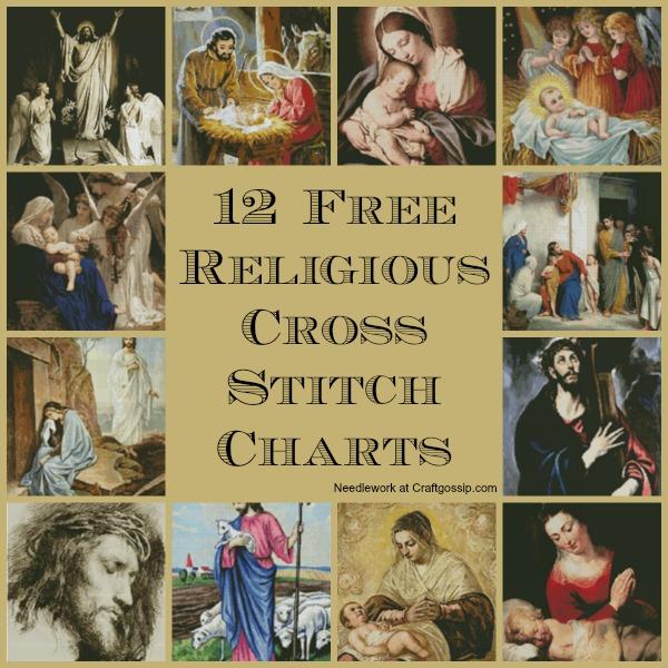 Free religious cross stitch charts needle work